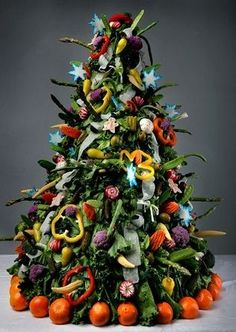 Clever veggie tree! The Sparkle Queen: Edible Christmas Trees {Sweets and Treats}