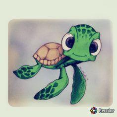 Ideas For Tattoo Animal Sea Turtle Painting Cute Turtle Drawings, Cute Disney Drawings, Disney Sketches, Doodle Drawings, Cartoon Drawings, Doodle Art, Easy Drawings, Animal Drawings, Art Sketches