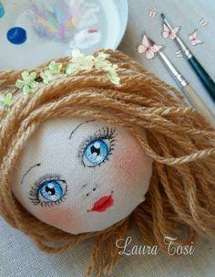Work in progress by Laura Tosi www.facebook.com/fattoconamorelaura #cucitocreativo #cucitoamano #artesanato #creativas #handmadewhitlove #blueyes #doll #creativemamy #handmade