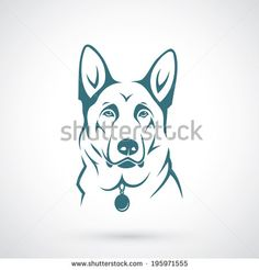 "german shepherd illustration - ""Google"" paieška"