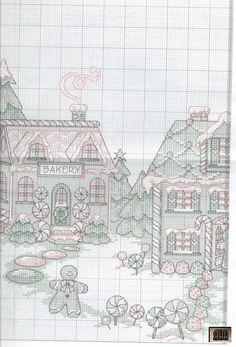 Gingerbread Land Tree Skirt 3/15
