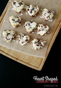 Heart Shaped Cranberry Scones