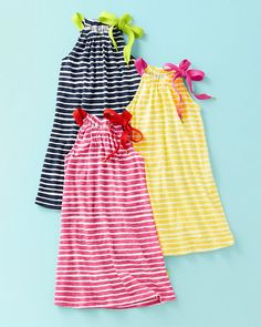 Like the Tshirt fabric in these cute dresses.  Pillowcase Dress by Morgan & Milo