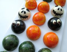 Halloween chocolate pralines.