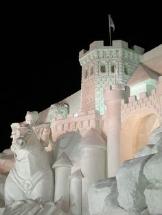 The 59th Sapporo Snow Festival #3 'The Chronicles of Narnia: Prince Caspian' Sapporo Snow Festival, Ice Castle