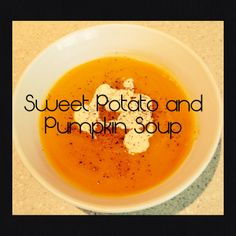 Sweet Potato and Pumpkin Soup (Thermomix Method Included) **Green Bean Soup** - 1 red pepper chopped - stick butter - 1 large onion diced - Sauté . Pumpkin Sweet Potato Soup, Pumpkin Soup, Soup Recipes, Vegetarian Recipes, Freezer Recipes, Bellini Recipe, Cup Of Soup, Money Saving Meals, Hot Soup