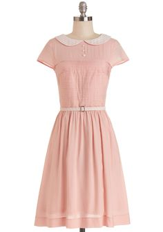 Confectioner's Dream Dress. As you embark on a tour of your favorite candy factory, youre feeling sweet as can be in this strawberry-pink dress from Bea Dot - a style exclusive to ModCloth! #pink #modcloth