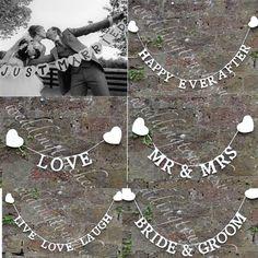 1 sztuk Vintage Wedding Party Banner Trznadel Garland Rekwizyty Zdjęcia Wiszące Wystrój Znak darmowa wysyłka