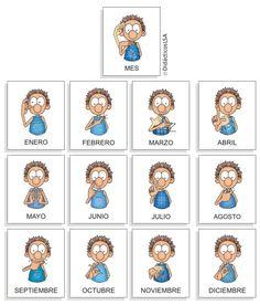 MATERIAL DE LENGUA DE SEÑAS (LSA): números, días de la semana, ropa, etc Sign Language Book, Sign Language For Kids, Learn Sign Language, Teachers Corner, Baby Boy Fashion, English Words, New Things To Learn, Signs, Teacher Resources