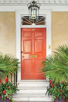 13 Bold Colors for Your Front Door: Charleston Tomato Red Front Door