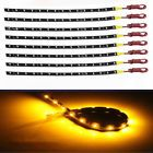 10 x 3528  15SMD yellow color LED Car Strip Light 30cm Waterproof HighPower 12V