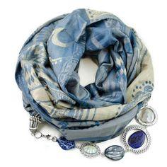 Кашемировый шарф-ожерелье (голубой/бежевый). Производство: Чехия Размеры: 70x175+50cм Состав: 60% кашемира, 40% вискоза Полный каталог шарфов: ШАРФ-ОЖЕРЕЛЬЕ.РФ