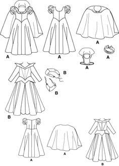 Patrones disfraz Blancanieves y Bella durmiente. | idisfraz, ideas para tu disfraz