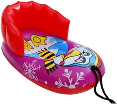 """Amazon.com: Uncle Bob's 36"""" X 24"""" Kiddie Seal & Penguin Pull Snow Sled: Toys & Games"""