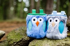 Furry Owls Chalk Bags, Rock Climbing Chalk Bag by Crafty Climbing