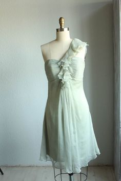 bridesmaid dresses / one shoulder / mint blue/ dresses by FM908, $98.00