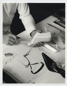 Manolo Blahnik at work