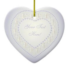 Message From Heart-White Gold Lavender-Ornament