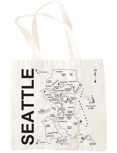 hand drawn seattle map