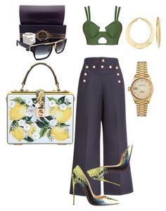 """""""Lemonade"""" by thestylesnitch on Polyvore featuring Marc Jacobs, Christian Louboutin, Dita, Dolce&Gabbana, Rolex and Ross-Simons"""