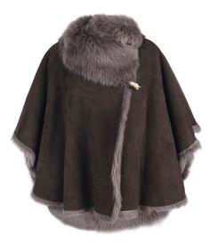 Pelt Poncho, Women, Leather, AllSaints Spitalfields