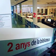 Ja estem preparats per celebrar els 2 anys de la biblioteca! El dia 4 de febrer la farem grossa! Tots som biblioteca d'#Esparreguera #quèfemalesbiblios