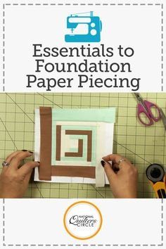 Foundation paper piecing is a great way to be able to accurately piece quilt blocks that are made up of many small pieces. Ashley Hough shows you how to create a small version of a basic log cabin block using a foundation paper piecing method.
