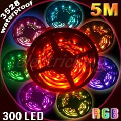Selectec® 3528 RGB 5M IP65 Waterproof 300 Led Strip + 24Key IR + 12V 2A Power Adapter by Selectec. $32.98. Features:  100% Brand New.  Color: RGB  24 KEY IR remote controller  Working Voltage: 12VDC  LED Quantity: 300 leds/5 Mete  Viewing Angle : 120°  Waterproof flexible LED strip  Maintenance free, easy installation  LED Type: High Quality 3528 SMD LED, high intensity and reliability, Long lifespan >5000  Package:  1x 5 Meters RGB  LED Strip (not include power supply)  1x...