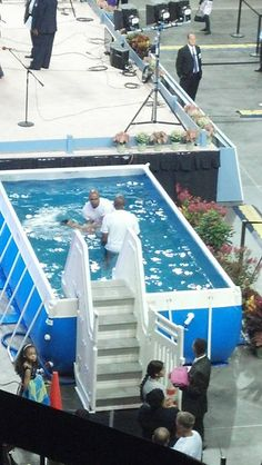 New bros. /or sis baptized in Orlando, FL June 21, 2014. Over 6,000 in attendance. Don't know how many baptized yet.