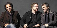 Alejandro gonzalez Inarritu, Guillermo deltoro y Alfonso cuaron Directores de Cine Orgullo Mexicano