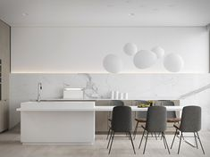 Commissioned by a young IT engineer, this beautiful bachelor's apartment was designed by the M3 Architectural & Construction group who took a minimalist approach. The clean pad is located in Budva, Montenegro, a coastal area on the Adriatic Sea,