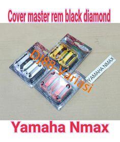 Tutup master rem black diamond nmax cover minyak rem depan nmax kiri kanan cnc aksesoris nmax variasi nmax