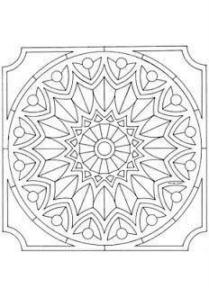 Mandalas Para Pintar: mandalas cuadrados
