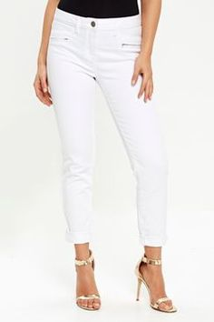 Petite Scarlet White Roll Up Jeans #wallisescapes