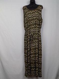 b6db6144c81 Old Navy Maxi Dress Size 2X Women Brown Casual Beach Long Tie Back  Sleeveless  OldNavy