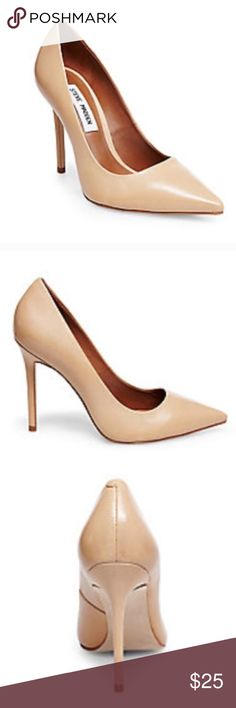 Size 6 tan Steve Madden pump Like new Steve Madden tan pump. Great shoe for going from work to out for drinks! Very versatile pump. Only worn twice. Steve Madden Shoes Heels