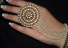 Hand Jewellery by - Thanks for the tag! To be featured tag Pakistani Jewelry, Indian Wedding Jewelry, Indian Jewelry, Bridal Jewelry, Stylish Jewelry, Unique Jewelry, Fashion Jewelry, Fashion Earrings, Antique Jewellery Designs