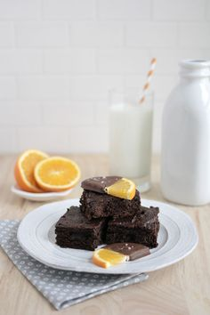 Healthy Chocolate Orange Brownies | A Beautiful Mess  Wendy Schultz - Brownies.