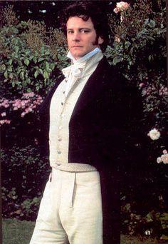Recency men's wear. Colin firth's Mr. Darcy 1995
