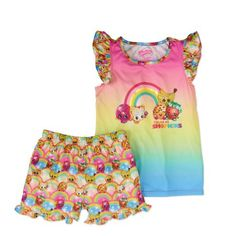 Shopkins Girls' Color Me Shopkins Ruffle Sleeve Tee and Shorts Set, Assorted Girl Toys, Toys For Girls, I Love Girls, Baby Girls, Shopkins Girls, Toy Kitchen, Bitty Baby, 7th Birthday, Ruffle Sleeve
