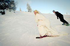 Wedding in the winter.  Esta es mi favorita.