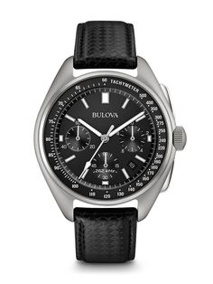 Bulova made space history on August the Apollo 15 mission, a moon pilot chronograph, customized for lunar conditions by Bulova engineers, was worn on the moon. Now Bulova makes history again with the special edition Lunar Pilot Chronograph, Omega Speedmaster, Speedmaster Professional, Cool Watches, Watches For Men, Wrist Watches, Casual Watches, Unique Watches, Dream Watches, Pocket Watches