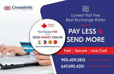 Safest way to send money online from Canada. - Send Money Online to India Via Crosslinks Money Exchange Rate, Hurdles, Centre, First Love, Waiting, Money, Easy, First Crush, Silver