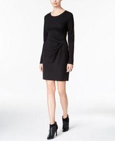 Bar Iii Draped Sheath Dress, Only at Macy's - Black XXL