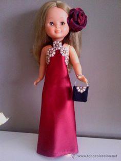 vestido de gala con bolso para nancy o muñeca similar (Juguetes - Reproducciones Vestidos y Accesorios Muñeca española Moderna)
