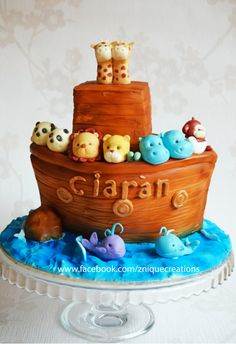 Noah's ark  - Cake by Znique Creations