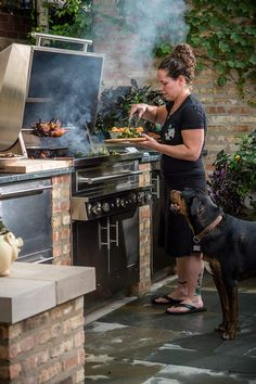 """A Nice Chicago Outdoor Kitchen in my article ….. """"Dressed to Grill"""" … Sophisticated Skewers (Part 2)"""