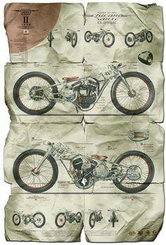 Chicara Art II - Chicara Nagata Motorcycle Posters.