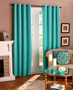 Grommet-Top Colorful Blackout Panel Curtains Noise Reduction