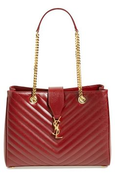 Saint Laurent 'Monogramme' Grained Leather Shopper available at #Nordstrom